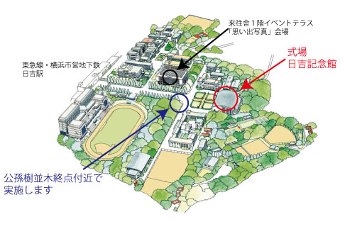 日吉キャンパスマップ